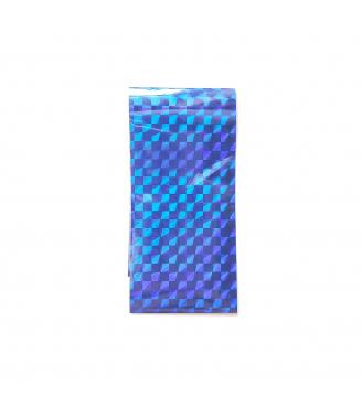 Transfer Foil Laser Square Blue